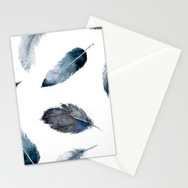 Midnight Feather Stationery Cards