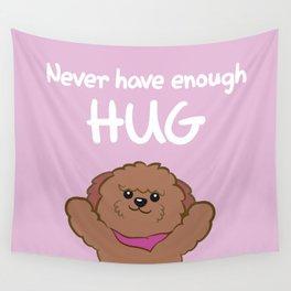Hug poodle Wall Tapestry