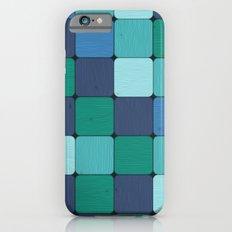 Blue Wood Blocks Slim Case iPhone 6s