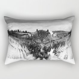 Owl Mid Flight Rectangular Pillow