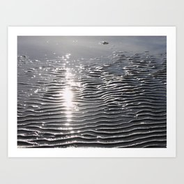 Waves in the Sand 02 Art Print
