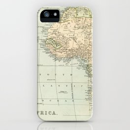 West  & North Africa Vintage Map iPhone Case