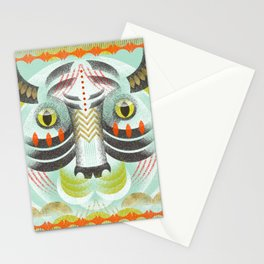 Abstract Bohemian Tiger Stationery Cards