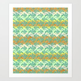 Colorful Tropical Print Pattern Art Print