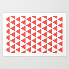 Sleyer Pink on White Pattern Art Print
