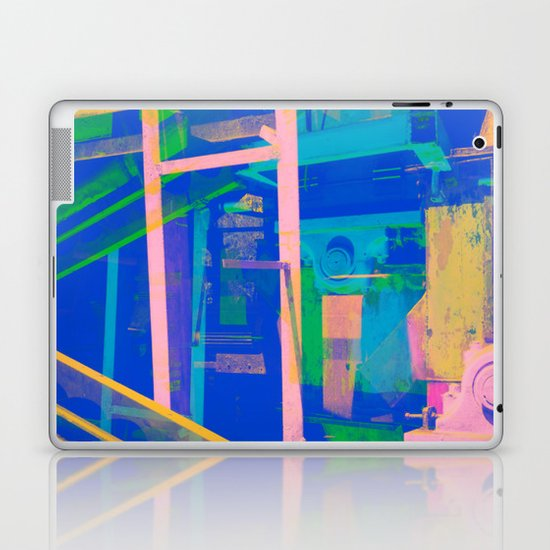 Industrial Abstract Blue 2 Laptop & iPad Skin