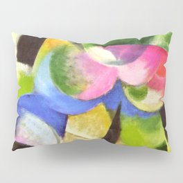 "Franz Marc ""Small Composition II also known as House with Trees) (Haus mit Bäumen) Pillow Sham"