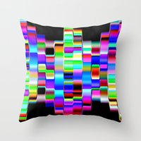 computer Throw Pillows featuring Hello Computer by NatalieCatLee
