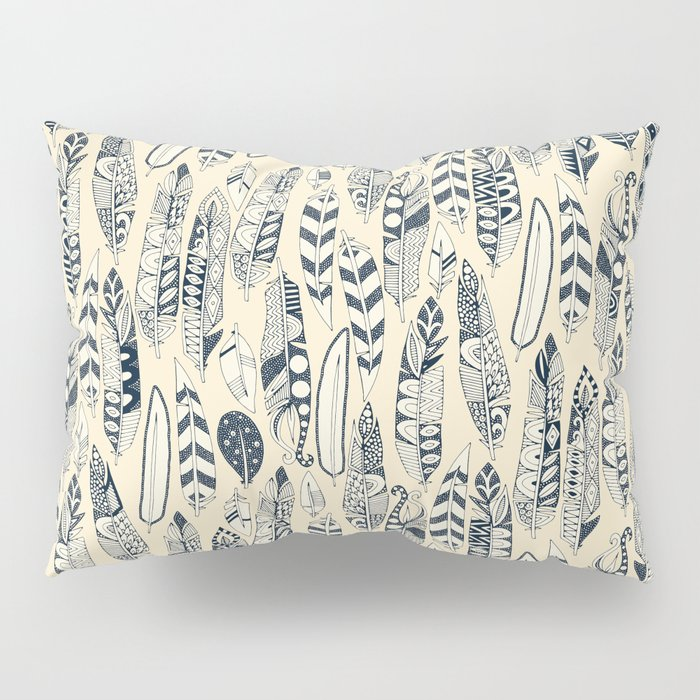 joyful feathers cream Pillow Sham