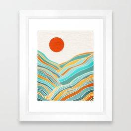 Abstract Sunset Landscape II Framed Art Print