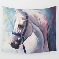 horse Wall Tapestries featuring Horse by Slaveika Aladjova