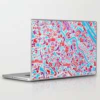 vienna Laptop & iPad Skins featuring Vienna City Map Poster by Vianina