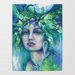 Flidais Celtic Goddess Poster