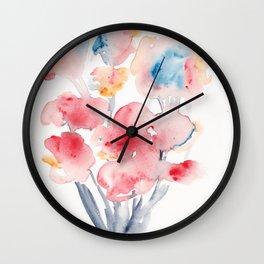 22  | Loose Watercolor Flower | 191015 Wall Clock