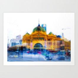 Flinders Street Photo Montage Art Print