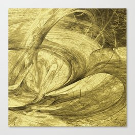 Flying threads of gold Canvas Print