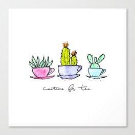 Cactime for Tea Canvas Print