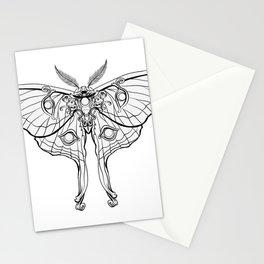 Art Nouveau Moth (white background) Stationery Cards