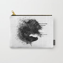 Black and White Horse Head Watercolor Silhouette Carry-All Pouch