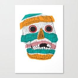 Stripy Skull  Canvas Print