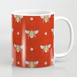 Bumblebee Stamp on Red Coffee Mug
