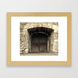 Old Wooden Door | Doors | Ireland | Kilmainham Gaol Framed Art Print