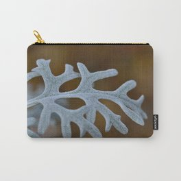 Silver Brocade Carry-All Pouch