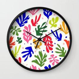 Floral Matisse pattern Wall Clock