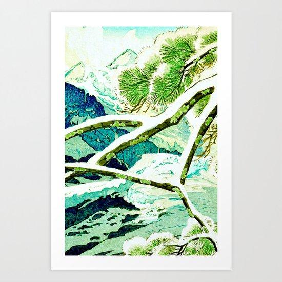 The Winter Green Art Print