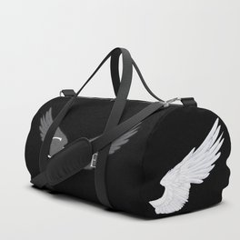 Castiel with Wings White Duffle Bag