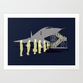 Final flight Art Print