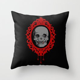 Vampire Skull Cameo (Jewel Of Blood Collection) Throw Pillow