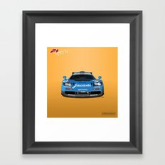 McLaren F1 GTR #07R - 1995 Le Mans 5th place - Front View Framed Art Print
