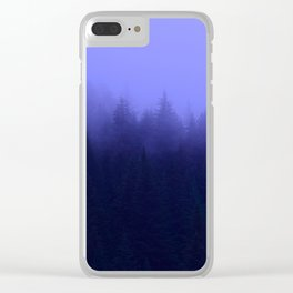 Periwinkle Fog 0367 - Seward, Alaska Clear iPhone Case