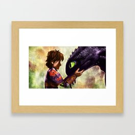 How to Train Your Dragon - Hiccup and Toothless Framed Art Print