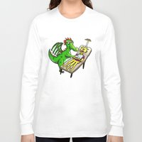 dentist Long Sleeve T-shirts featuring Dragon Dentist by Tory Erpenbeck