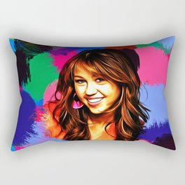 Miley - Celebrity Art Rectangular Pillow