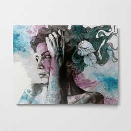 Beneath Broken Earth Metal Print