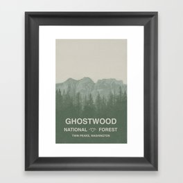 Ghostwood National Forest Twin Peaks Framed Art Print