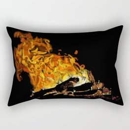 Autumn Firelight Rectangular Pillow