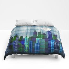 Plaid City Twilight Comforters