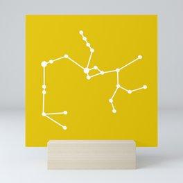 Sagittarius (White & Gold) Mini Art Print