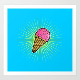 Delicious Ice Cream Art Print