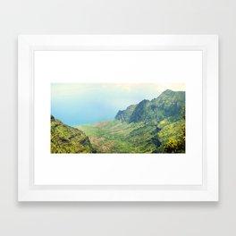 Kauai - Na Pali Coast (from Waimea Canyon) Framed Art Print