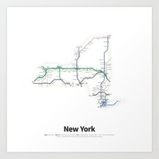 Highways of the USA – New York Art Print