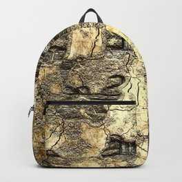 Medieval Wall of Wattle and Daub Backpack