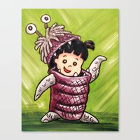 monster inc Canvas Prints featuring B00 Monster's Inc by MSG Imaging
