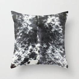 Cowhide black and white   Textures Throw Pillow