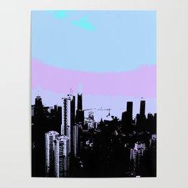 Abstract Hong Kong Poster