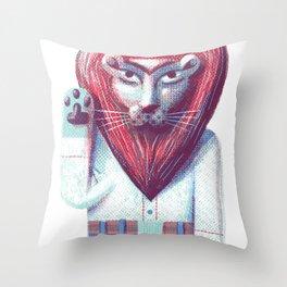 Lion's heart Throw Pillow